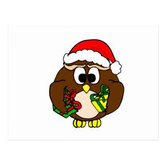 X-Mas Owl Postcards