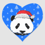 X-Mas Panda Heart Sticker