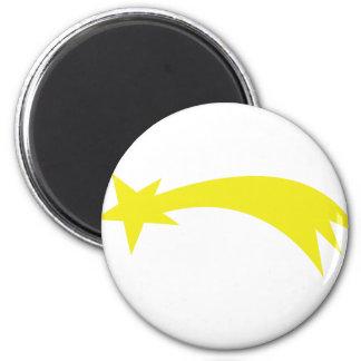 x-mas star - falling star 2 inch round magnet