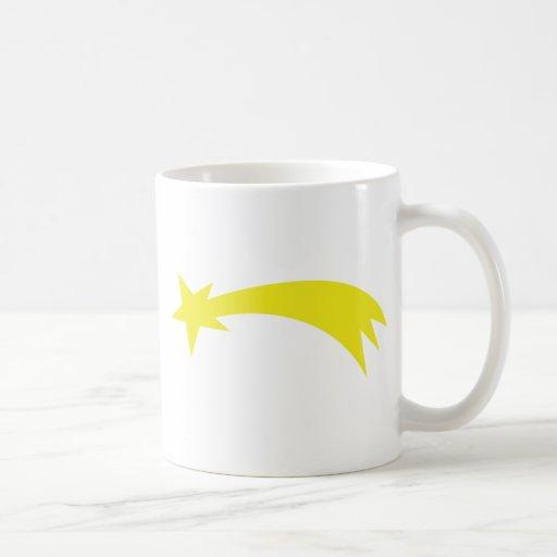 x-mas star - falling star classic white coffee mug