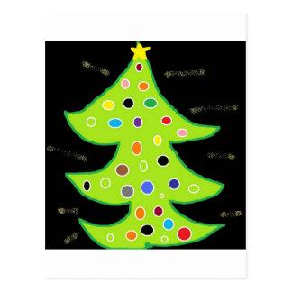 X - MAS TREE POSTCARD