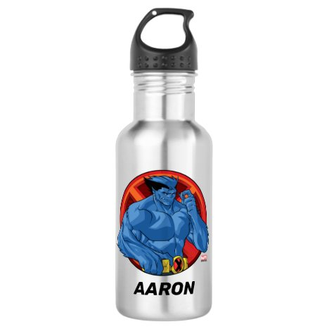 X-Men | Beast Character Badge Stainless Steel Water Bottle