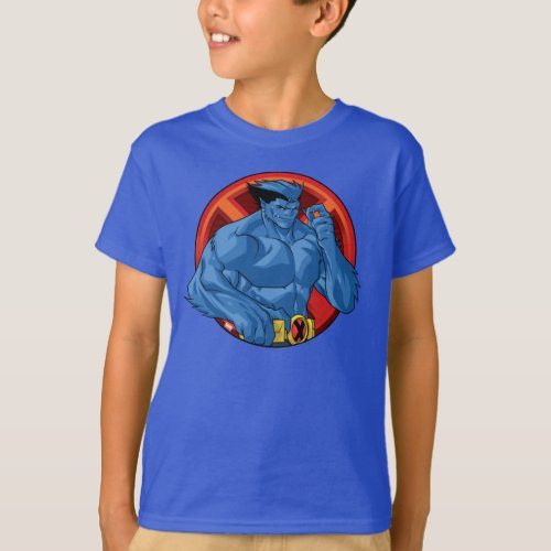 X_Men  Beast Character Badge T_Shirt