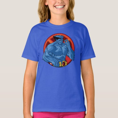 X_Men  Beast Character Badge T_Shirt
