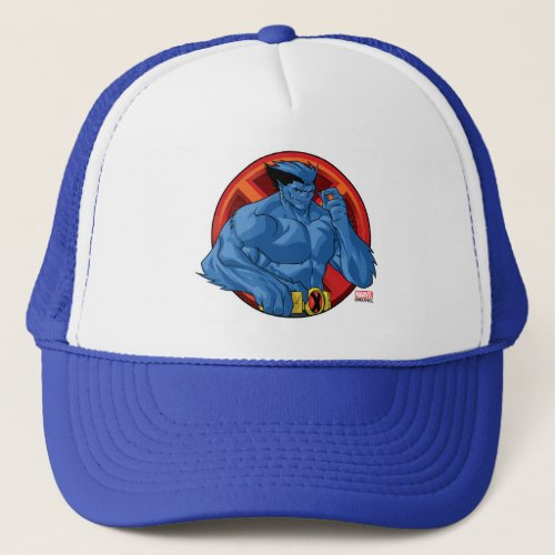X_Men  Beast Character Badge Trucker Hat
