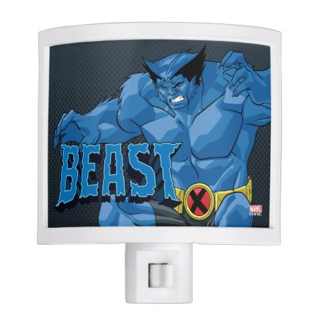 X-Men   Beast Leaping Into Action Night Light