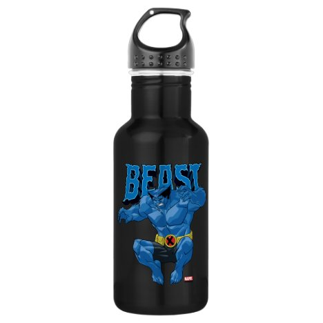 X-Men | Beast Leaping Into Action Stainless Steel Water Bottle