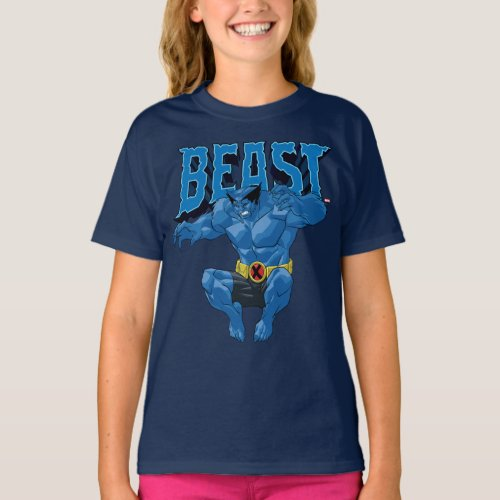 X_Men  Beast Leaping Into Action T_Shirt