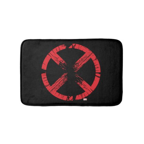 X-Men | Cracked Red and Black X Icon Bath Mat