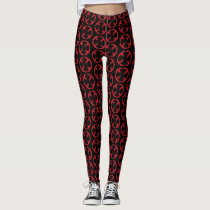 X-Men | Cracked Red and Black X Icon Leggings