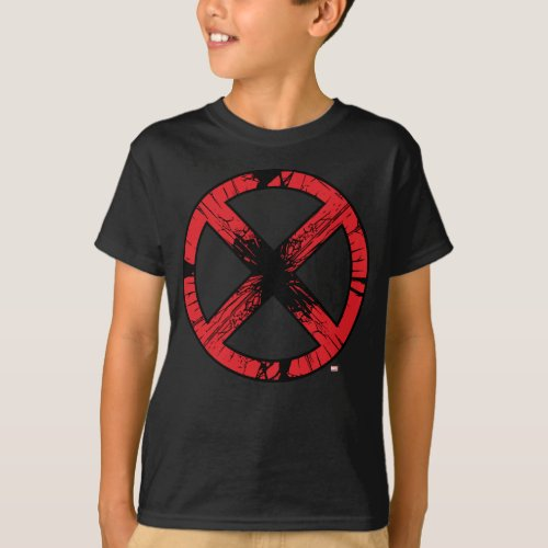 X_Men  Cracked Red and Black X Icon T_Shirt