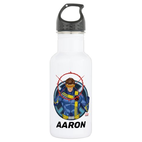 X-Men | Cyclops Character Badge Stainless Steel Water Bottle