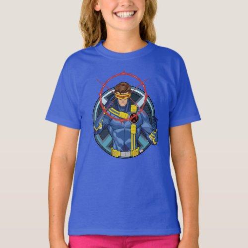 X_Men  Cyclops Character Badge T_Shirt