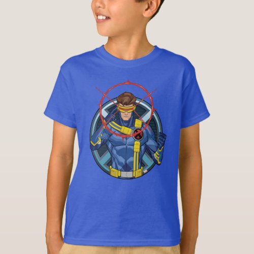 X_Men  Cyclops Character Badge T_Shirt