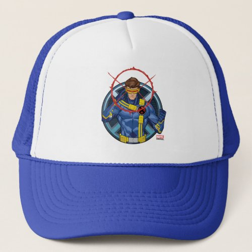 X_Men  Cyclops Character Badge Trucker Hat