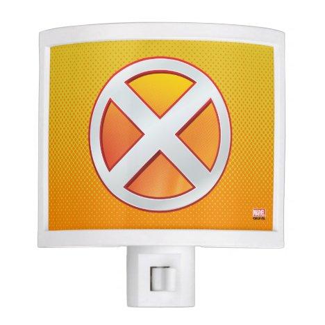 X-Men   Gold and White X Icon Night Light
