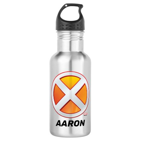 X-Men | Gold and White X Icon Stainless Steel Water Bottle