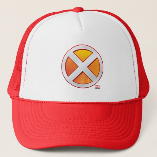 X_Men  Gold and White X Icon Trucker Hat
