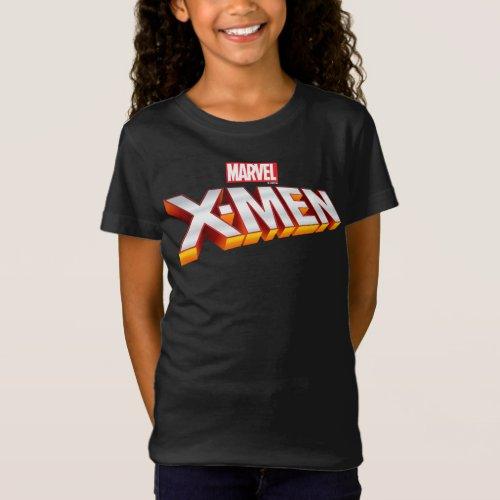 X_Men  Gold and White X_Men Logo T_Shirt