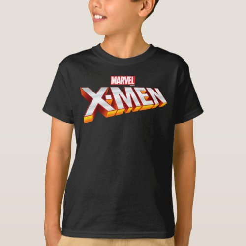 X_Men  Gold and White X_Men Logo T_Shirt