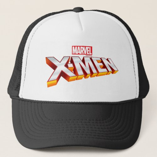 X_Men  Gold and White X_Men Logo Trucker Hat