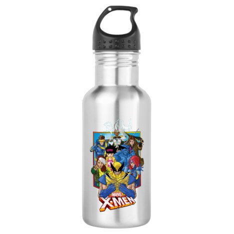 X-Men | Group Badge With Logo Stainless Steel Water Bottle