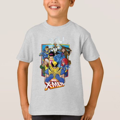 X_Men  Group Badge With Logo T_Shirt
