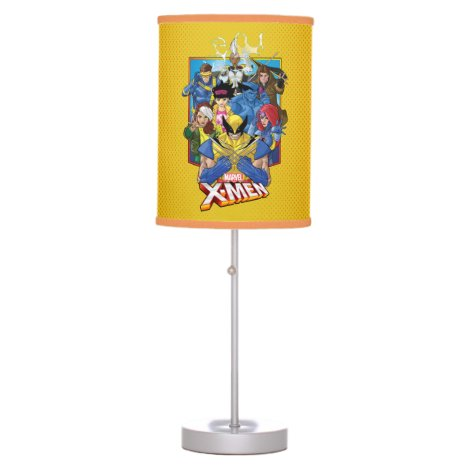 X-Men | Group Badge With Logo Table Lamp