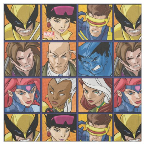 X-Men | Group Profile Grid Fabric