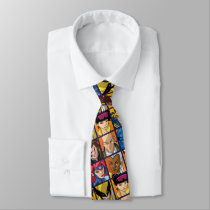 X-Men | Group Profile Grid Neck Tie