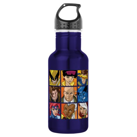 X-Men | Group Profile Grid Stainless Steel Water Bottle