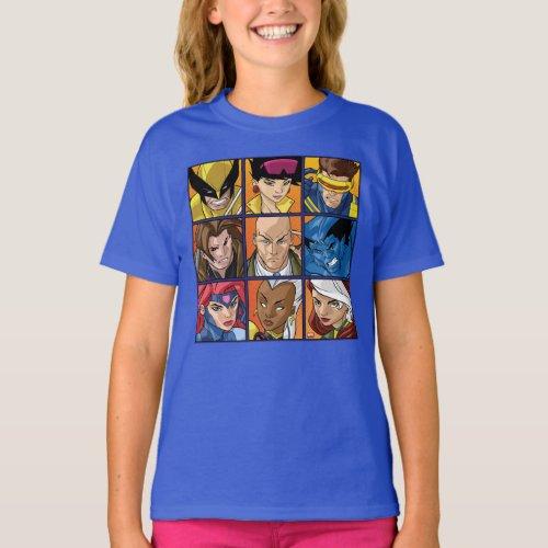 X_Men  Group Profile Grid T_Shirt
