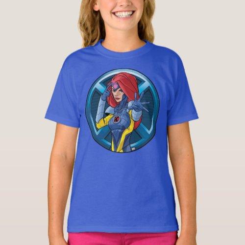 X_Men  Jean Grey Character Badge T_Shirt