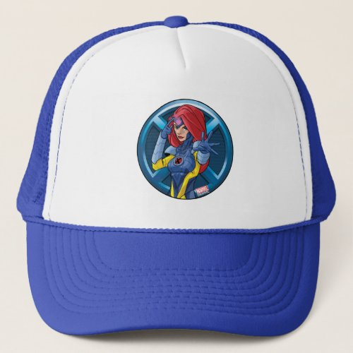 X_Men  Jean Grey Character Badge Trucker Hat