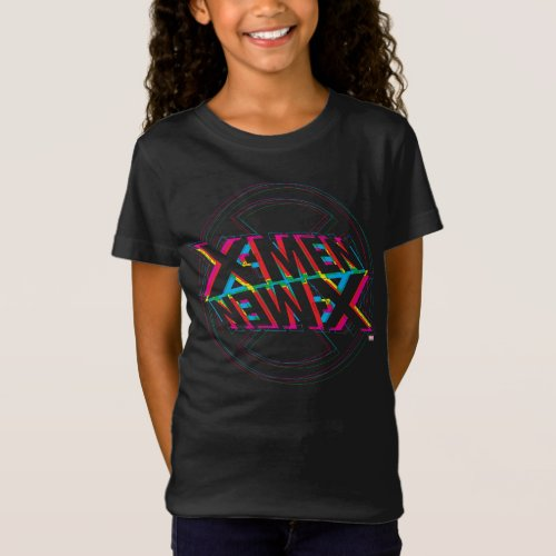 X_Men  Neon Offset Lined Logo T_Shirt