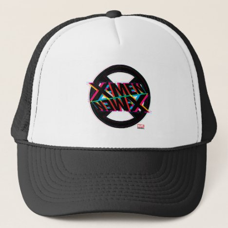 X-Men | Neon Offset Lined Logo Trucker Hat