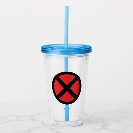 X-Men | Red and Black X Icon Acrylic Tumbler