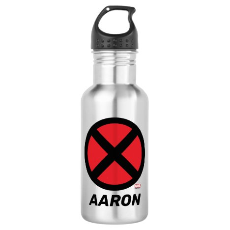 X-Men | Red and Black X Icon Stainless Steel Water Bottle