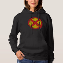 X-Men | Red and Yellow Spraypaint X Icon Hoodie