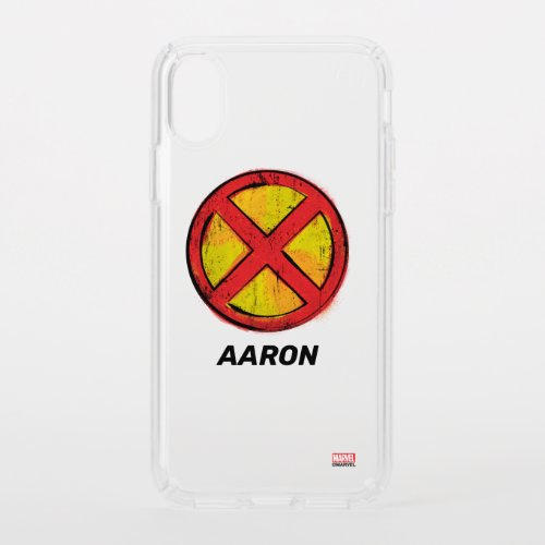 X-Men | Red and Yellow Spraypaint X Icon Phone Case