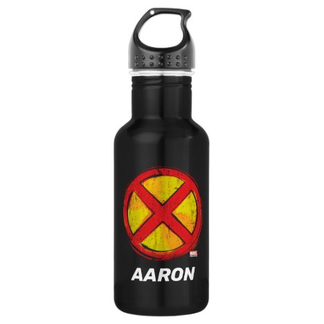 X-Men | Red and Yellow Spraypaint X Icon Stainless Steel Water Bottle