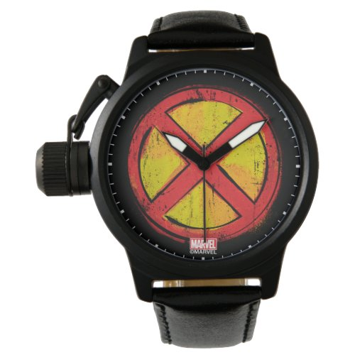X-Men | Red and Yellow Spraypaint X Icon Watch