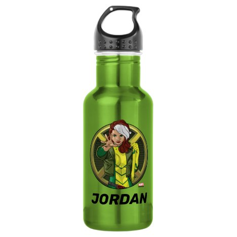 X-Men | Rogue Character Badge Stainless Steel Water Bottle