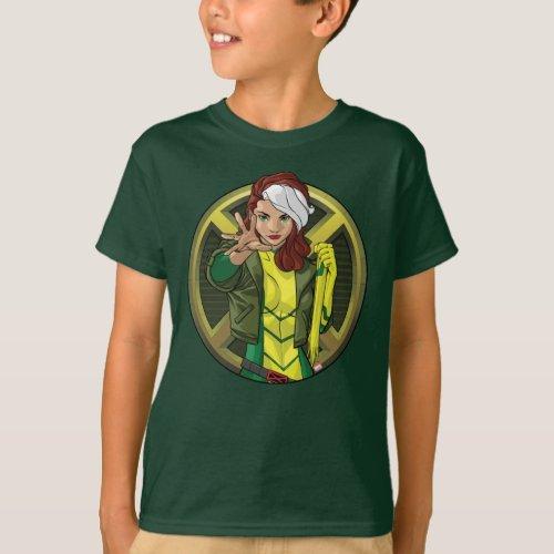 X_Men  Rogue Character Badge T_Shirt