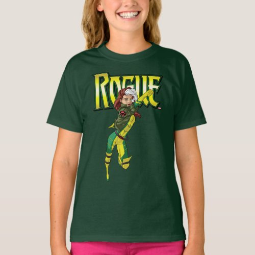 X_Men  Rogue Flying Through The Air T_Shirt