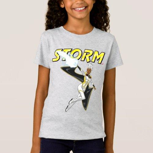 X_Men  Storm Throwing Lightning T_Shirt