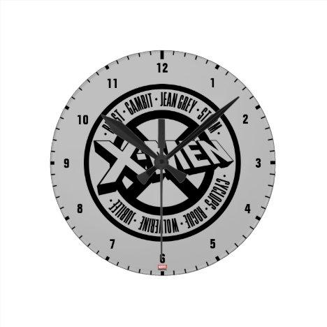 X-Men | Team Member Names Badge Round Clock