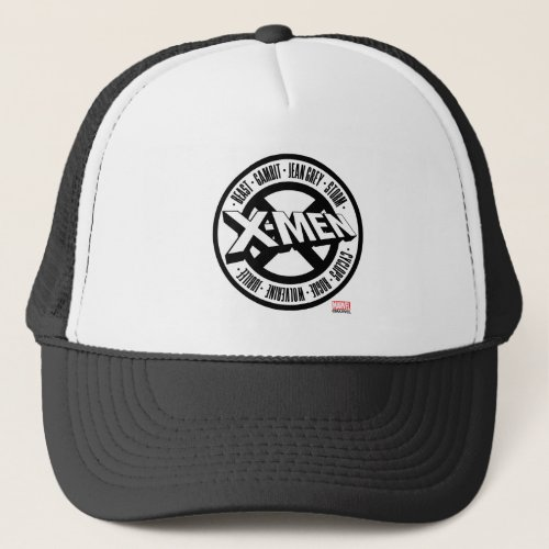 X_Men  Team Member Names Badge Trucker Hat