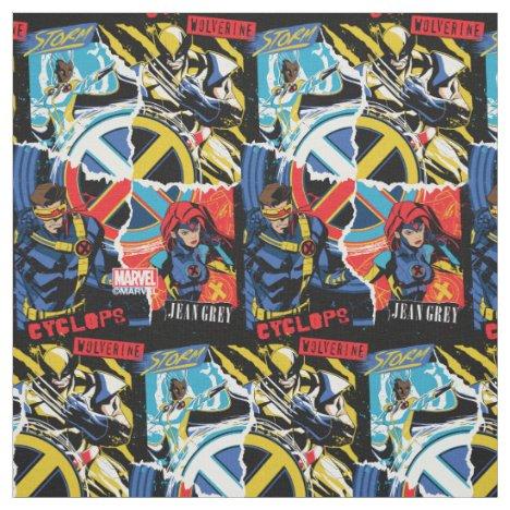 X-Men | Team Punk Logo Graphic Fabric