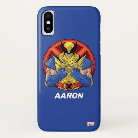 X-Men   Wolverine Character Badge iPhone X Case